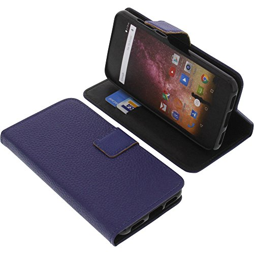 foto-kontor Tasche für Archos Core 50p Book Style blau Schutz Hülle Buch