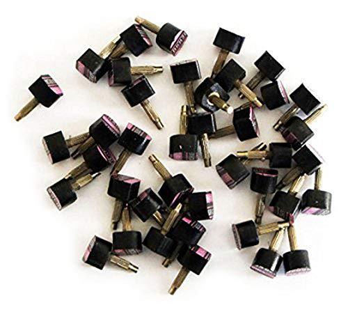 Main® un Lot de femmes en forme de U haute réparation de chaussures Talon Conseils, Plastique, Noir, 612-17x17mm pack of 20 pairs