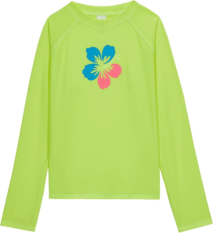 Talgat Girls Selling and selling Boys Flower Long UPF Nashville-Davidson Mall Sleeve Rashguard 50 Swimsuit