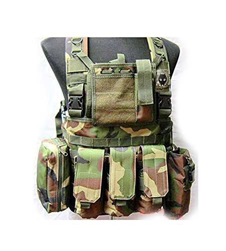 Zdmathe tactique militaire Paintball Airsoft Chasse Molle radio Pochette Sac