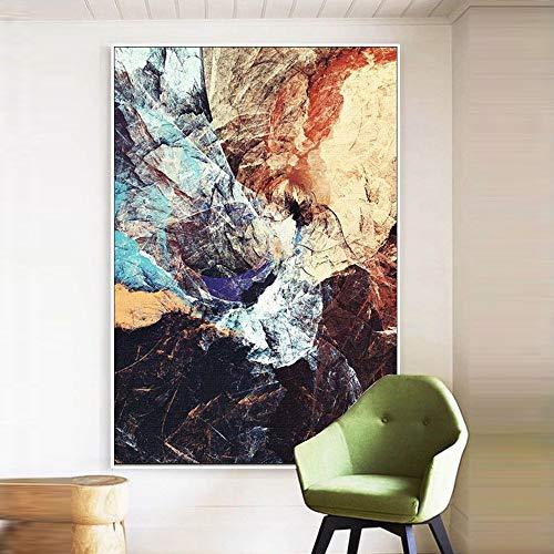 FAGavin Marco de fotos HD microspray blanco 40 * 60/50 * 70/60 * 80 cm moderno abstracto color decorativo mural pintura pared pintura dormitorio hogar sala de estar hotel (tamaño: 50 cm x 70 cm)