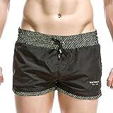 no brand SEOBEAN Lined Mesh Shorts Mens Summer Run Short Cortos Hombre Pantalones Pocket Casual Shorts Sweat Lining Fishnet Safety Shorts