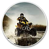 Impresionantes pegatinas de vinilo (juego de 2) 30 cm – ATV Quad Bike Motocicleta Biker divertidos calcomanías para laptops, tabletas, equipaje, libros de chatarra, neveras, regalo genial # 8096