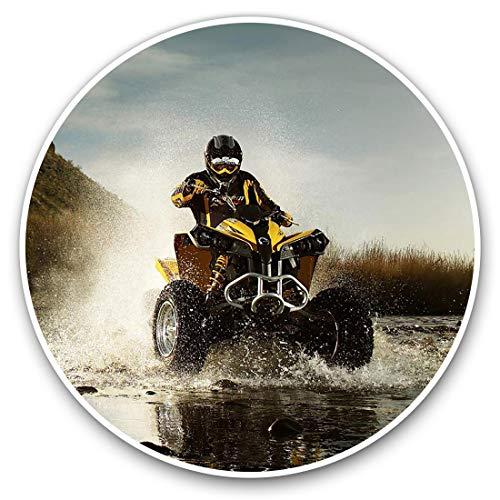 Pegatinas de vinilo (juego de 2) 20 cm – ATV Quad Bike Biker #8096