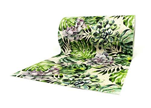 CapitanCasa Tappeto Passatoia Sottolavello con Fondo Antiscivolo Fantasia Green 50x230 Green