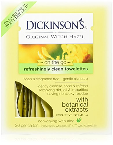 T.N. Dickinson's Witch Hazel Formula Towelettes with Aloe, 3 Count by T.N. Dickinson's