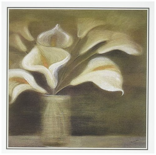 3dRose Callas in Vase Calla Lilies Calla Lily Callas Easter Lily Floral Flower Greeting Cards, Set of 12 (gc_49391_2)