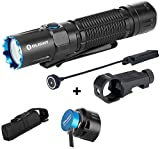 OLIGHT M2R Pro Warrior 1800 Lumens USB Magnetic Rechargeable Dual Switches Tactical Flashlight, 300 Meters Throw, Powered by 5000mAh 21700 Battery, Remote Pressure Switch and E-WM25 Mount Included