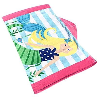 Alisy Toddler Hooded Beach Bath Towel, Shark Soft Swim Pool Coverup Poncho Cape For Boys Kids Children 1-12 Years Old Bath Robe