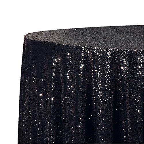 Poise3EHome 50-Inch Round Sequin Tablecloth for Party Cake Dessert Table Exhibition Events, Lavender