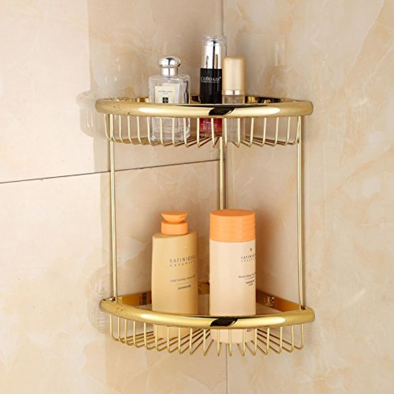 Copper bathroom racks wall mounted corner shelves bathroom rack double triangle basket
