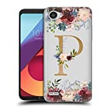 Head Hülle Designs Offizielle Nature Magick Buchstabe P Monogramm Blumen Gold 2 Soft Gel Handyhülle Hülle Huelle kompatibel mit LG Q6 / Q6 Plus