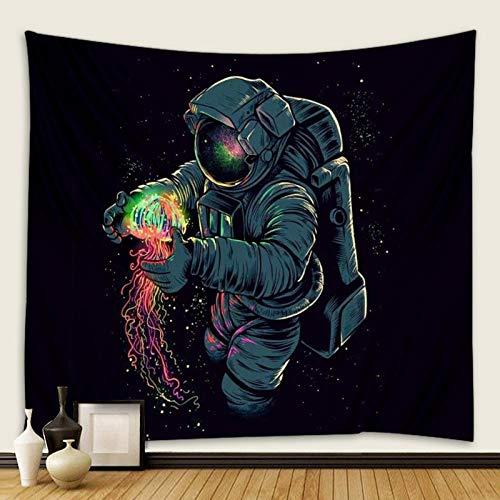 bjyxszd Decoración de Dormitorio Alfombrilla para Yoga Toalla para playaTapiz de Astronauta, Tela de Fondo de Tapiz de Tapiz alienígena, Tapiz de impresión Digital 3D-2_El 180cmx180cm