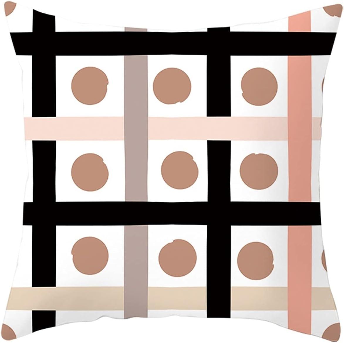 Daesar Soft Throw Pillow Super beauty product restock quality top [Alternative dealer] Covers Sofa Case Black White P Cushion
