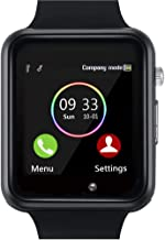 YIIXIIYN Smart Watch Bluetooth Smart Watch Sport Fitness Tracker Wrist Watch Touchscreen with Camera SIM SD Card Slot Watch Compatible iPhone iOS Samsung LG Android Women Men Kids (Black)