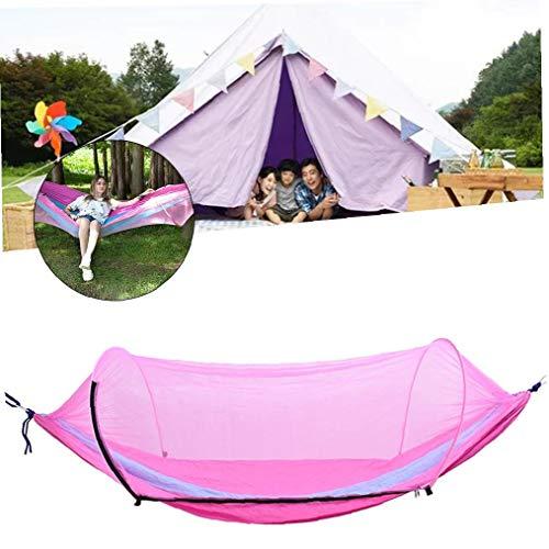 JRXyDfxn 1 Satz Camping Hammock Moskitonetz Outdoor-Reisen schlafen Hängematte Bett Anti Mosquito Camping Hammock Außen Supplies (rosa Blau)