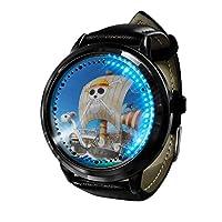 ナルトシリーズアニメ時計LEDタッチノベルティ時計スポーツ時計パーソナライズされた時計ユニセックス時計誕生日プレゼントコレクターズエディション-A7