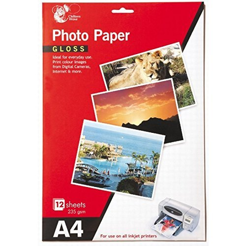 24 Vellen A4 Glans Photo Paper 235 gsm Inkjet Printer fotopapier Kleur