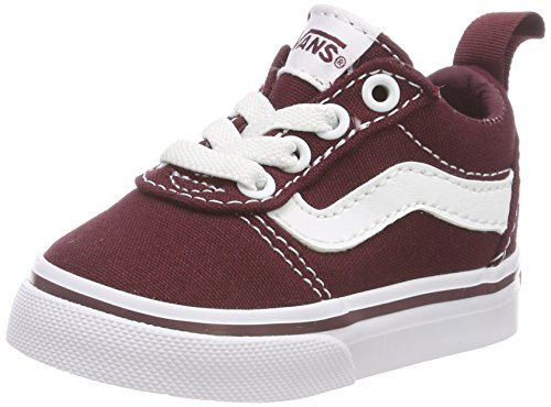 Vans Unisex Kinder Ward Slip-ON Sneakers, Rot ((Canvas) Port Royale/White 8j7), 25 EU