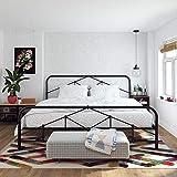 Novogratz 4367049N Francis Farmhouse, King Frame, Storage, Black Metal beds,