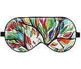 Luxspire Schlafmaske, Silk leichte blockierende Augenmaske für Damen und Herren, mit Verstellbarem, Bequemem Gurt für Reisen und Schlafen Geeignet - Glück Baum