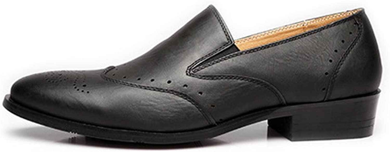 Ruiyue Leder Leder Leder Oxford Schuhe , Low Top Business Schuhe Matte Breathable Hollow Carving PU Leder Slip-on gefütterte Halbschuhe (Farbe   Schwarz, Größe   42 EU)  0441d7