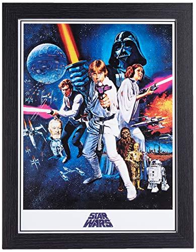 Star Wars FP11220P-PL Affiche Encadrée, Multicolore, 30 x 40 cm