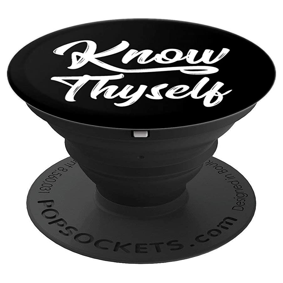 Know Thyself Graphic Ancient Saying - PopSockets Grip and Stand for Phones and Tablets