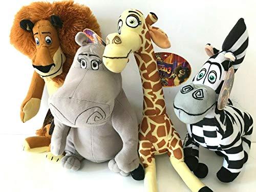 Madagascar 3 Europe's Mosted Wanted 12' 4 Pcs Plush Figure Doll Toy Set