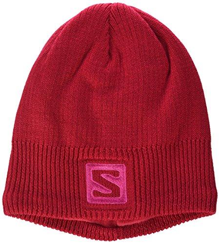 Salomon Mütze Logo Beanie, Lotus Pink, Uni