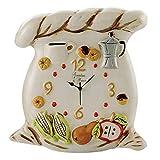 Giardini di Marzo Orologio da Parete in Ceramica Linea Sacco 35x37 cm