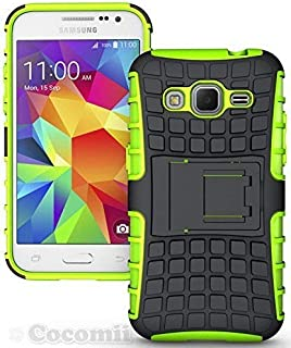 Cocomii Grenade Armor Galaxy Core Prime/Win 2/Prevail Case New [Heavy Duty] Tactical Grip Kickstand Shockproof Bumper [Military Defender] Full Body Cover for Samsung Galaxy Core Prime (G.Green)
