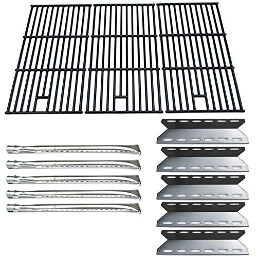 Direct Store Parts Kit DG108 Replacement for Nexgrill 720-0025 Gas Grill Burner, Heat Plate, Cooking Grid (Stainless Steel Burner + Porcelain Steel Heat Plate + Porcelain Cast Iron Cooking Grid)