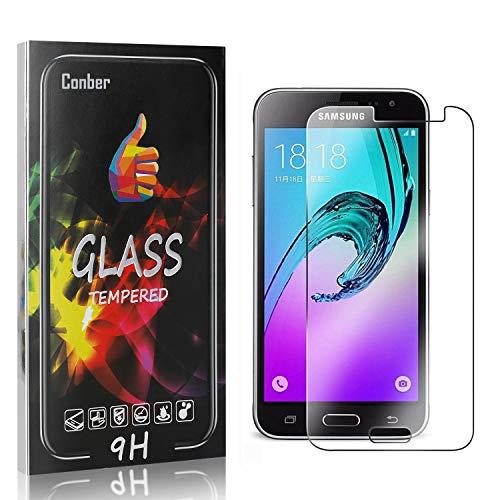 Conber [4 Stück] Displayschutzfolie kompatibel mit Samsung Galaxy J1 2016, Panzerglas Schutzfolie für Samsung Galaxy J1 2016 [Hüllenfreundlich][9H Härte]
