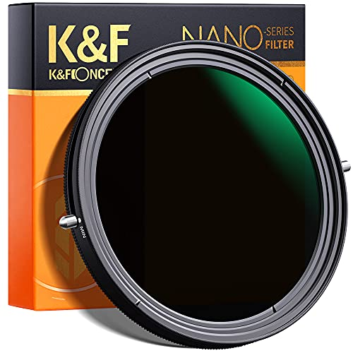 K&F Concept ND Filter 77mm CPL&ND2-ND32 2 in 1 multifunktionaler Graufilter und CPL Filter Polfilter