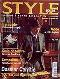 STYLE HOMME [No 2] du 01/10/1995 - MODE - LE CHIC ANGLAIS - ESCAPADE - CHATEAU...