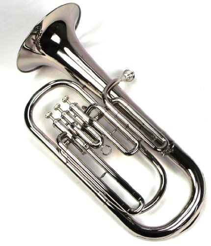 Advanced Monel Pistons Bb Baritone Horn w/Case and Mouthpiece-Nickel Plated Finish