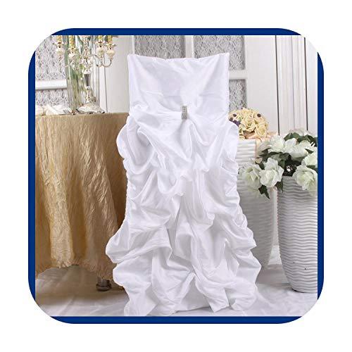 Nuestra Dama - Silla con volantes a rayas, color azul, morado y blanco, blanco, chiavari chair