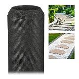 Relaxdays Malla Antihierbas 50 g/m² Permeable y Resistente a los Rayos UV, Polipropileno, Negro, 5 m