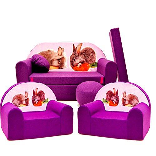 Barabike G1 kit de Lot, Mini pour Enfants, bébé Lot de 3 pour Enfants Canapé + 2 Fauteuil pour Enfant