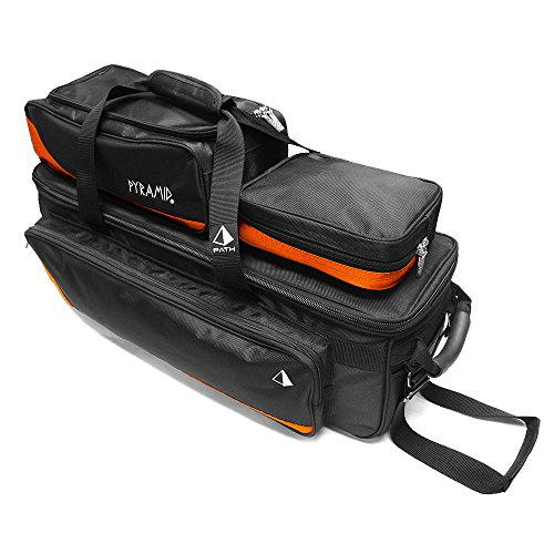 Pyramid Path Triple Tote Roller Plus Orange