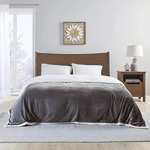 ramsons Sherpa Blanket Plush Blanket Twin SizeGrey Fuzzy Blanket Grey Warm Lightweight...