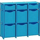 12 Cube Organizer | Set of Storage Cubes Included | DIY Closet Organizer Bins | Cube Organizers and Storage Shelves Unit | Closet Organizer for Bedroom, Playroom, Livingroom, Office, Dorm (Dark grey)