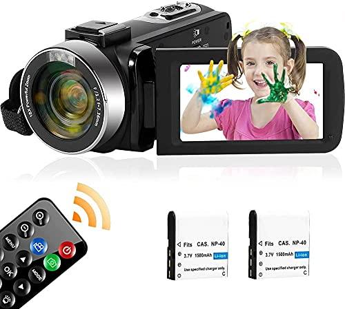 Video Camera 2.7K Camcorder 30FPS 42MP 18X Digital...