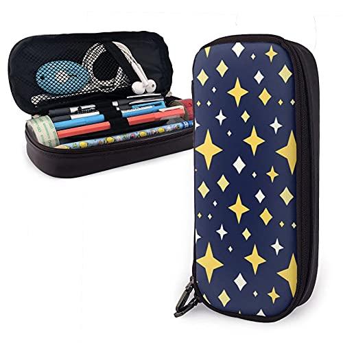 Estuche de lápices de cuero de gran capacidad con cremalleras para lápices, organizador de bolígrafos de oficina, caja de papelería, bolsa de cosméticos unisex