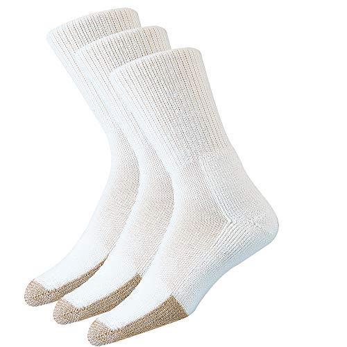 thorlos Unisex-Erwachsene Tennis Thick Padded Crew 3 Pair Packs Socks Tennissocken, Weiß (3 Paar), X-Large