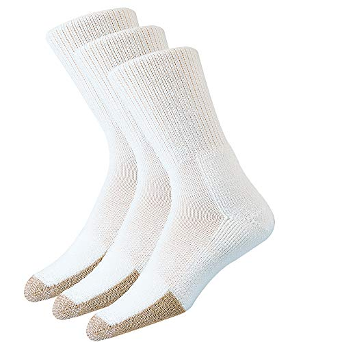 thorlos Unisex-Erwachsene Tennis Thick Padded Crew 3 Pair Packs Socks Tennissocken, Weiß (3 Paar), X-Large