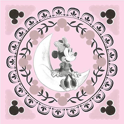 Grupo Erik C30X30CM003 Erik C20X25Cm001 Cuadro Lienzo Canvas Disney Minnie Mouse Luna 30X30 Cm, 30x30 cm, Multicolor