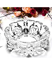 TRUESHOP Glass Ashtray for Cigarette Smoking Glass Candy Bowl Smoke Collectible Table Decorative