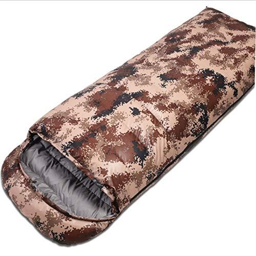 Camping Hiver Adulte extérieur Camouflage vers Le Bas Sac de Couchage Sac de Couchage Peut Se Battre Les UNS Les Autres Couple Amoureux Sac de Couchage-Frêne du désert